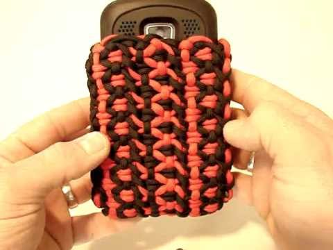 Paracord phone case t up production mpg youtube for Paracord case