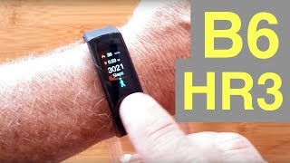Baixar B6 (HR3) COLOR Screen IP67 Waterproof Continuous Heart Rate Smart Band: Unboxing & Review