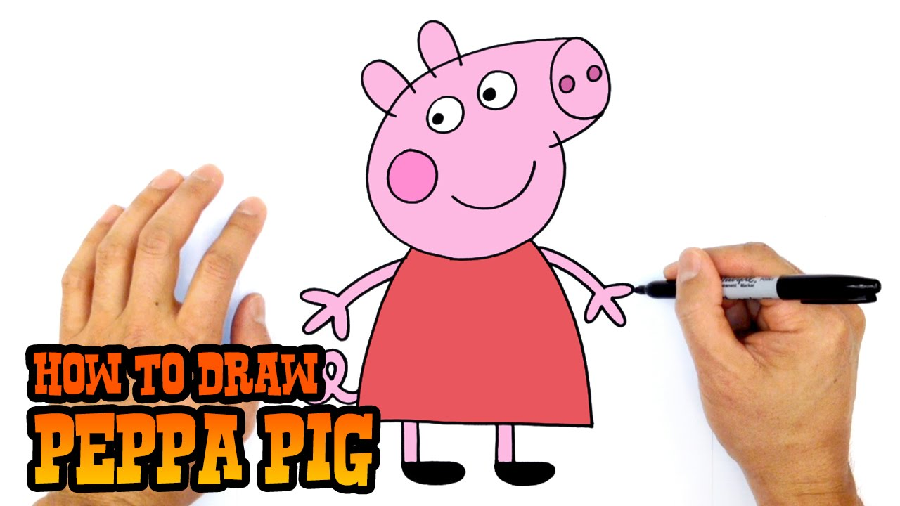 How To Draw Peppa Pig Art For Beginners