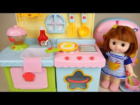 Thumbnail: Baby Doll Kitchen and play doh cooking toys play