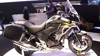 2015 Honda CB500X Travel Edition - Walkaround - 2014 EICMA Milan Motorcycle Exhibition
