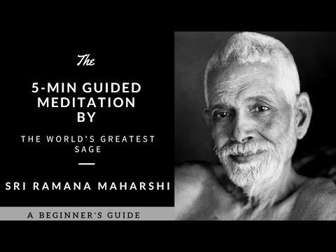 5-Min Guided Meditation by the World's Greatest Sage Ramana Maharshi