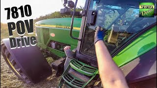 John Deere 7810 - POV Harvest & SOUND (60FPS)