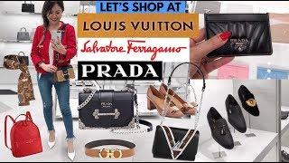 SHOP WITH ME AT LOUIS VUITTON, PRADA & FERRAGAMO! 👜 SHOPPING VLOG!