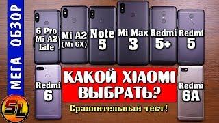 Какой Xiaomi выбрать? Mi Max 3, Note 5, Mi A2 (Mi 6X), Redmi 6 pro, 6, 6A, 5+, 5? Что лучше?!