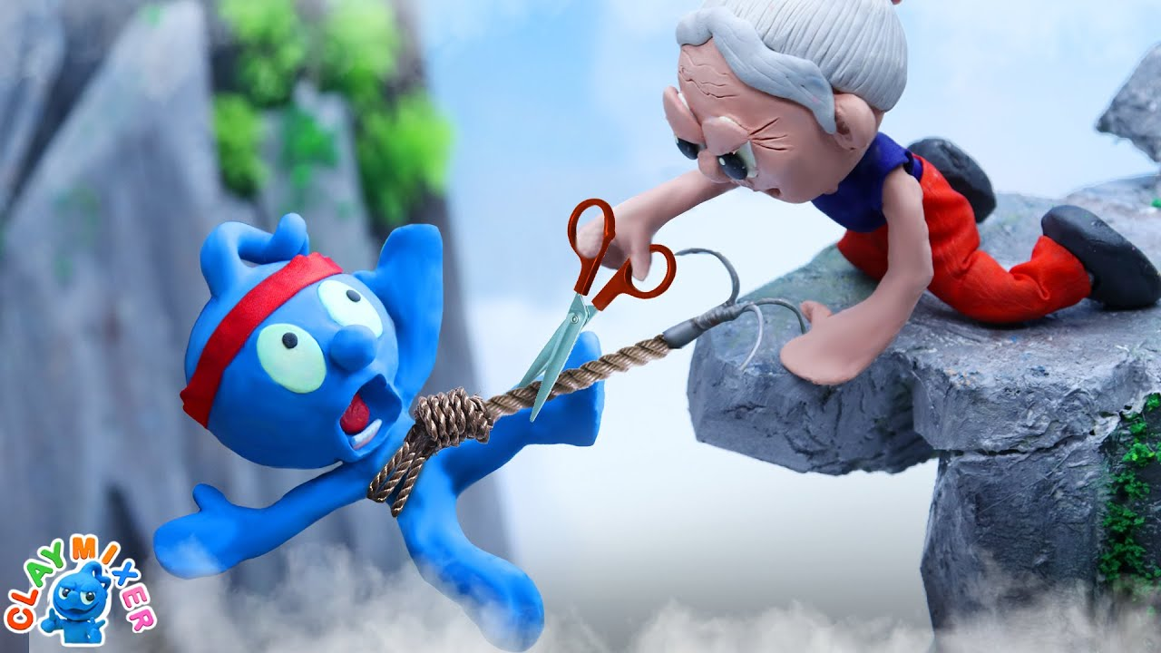 Tiny Lost Pathetically To An Old Lady - Funny Moment Stop Motion Animation Cartoons