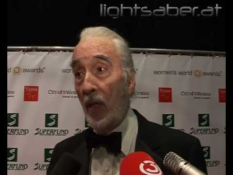 Christopher Lee! He spokes german very good!
