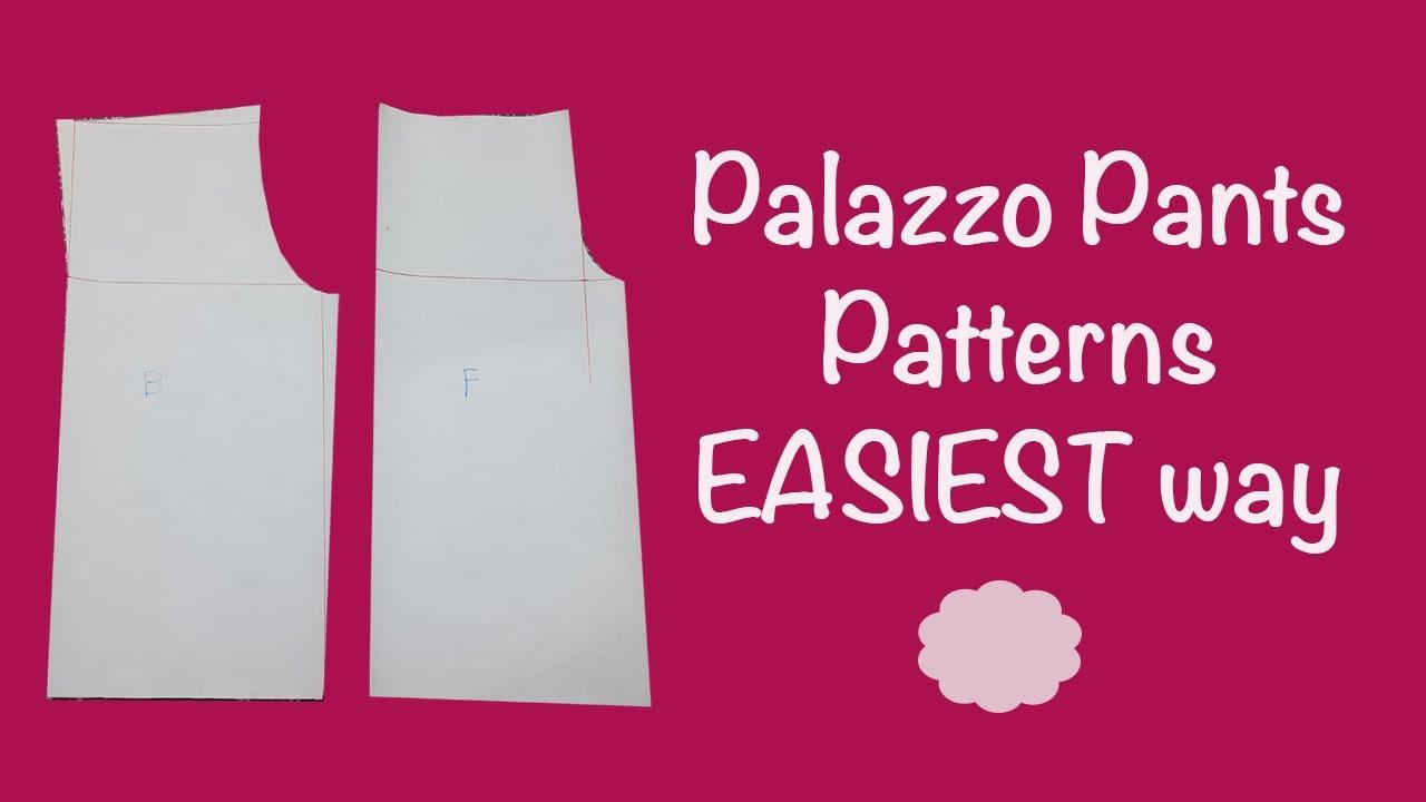 palazzo pants patterns super easy tutorial cloud