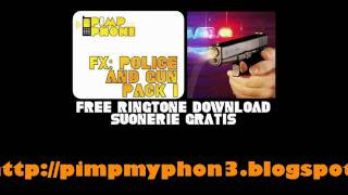 free ringtone sound effect police, gun and siren