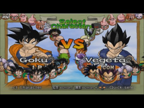 Dragon Ball Z: Budokai 2 Opening and All Characters [PS2]