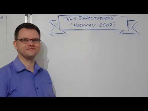 Team Models - Hackman Team Effectiveness