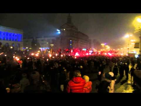 Stepan Bandera 116th Anniversary Torch March (01.01.15)