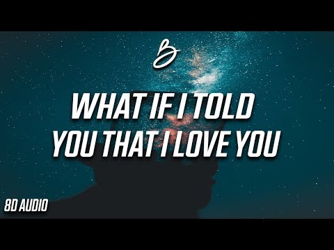 Ali Gatie - What If I Told You That I Love You (8D Audio)