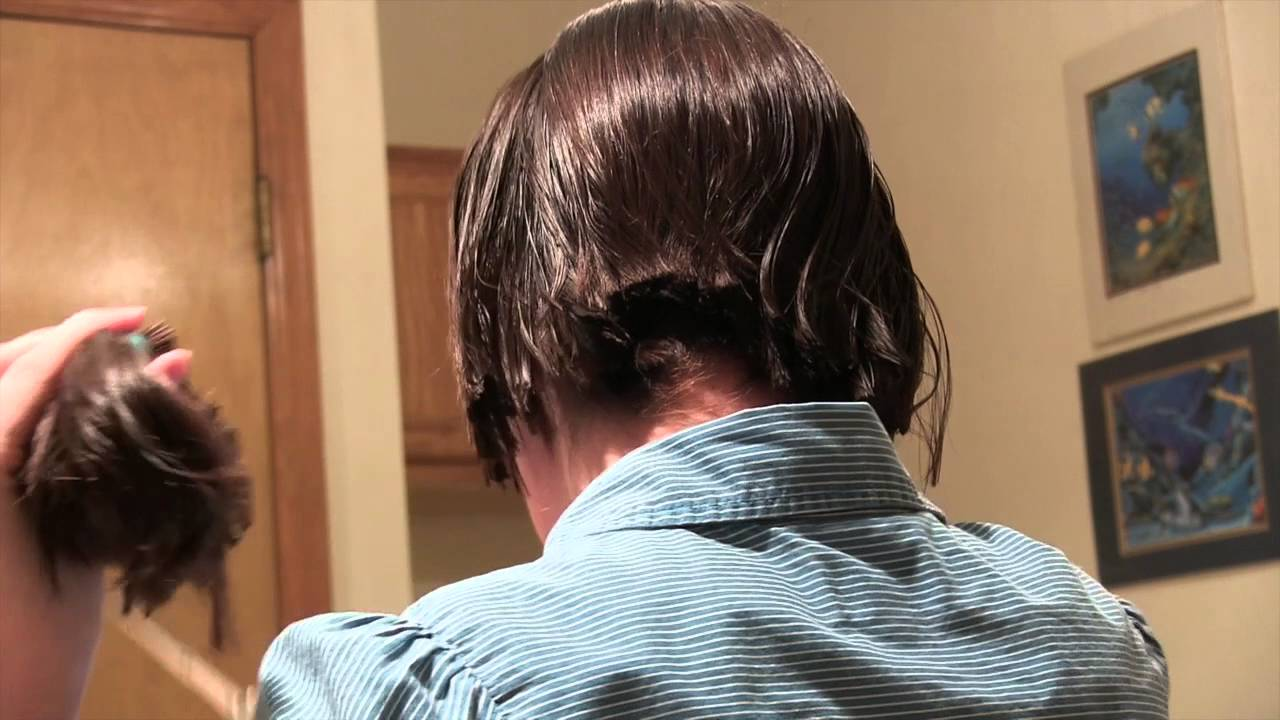 Cutting My Own Hair From A Ponytail YouTube