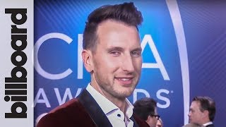 Russell Dickerson on Topping The Charts With 'Blue Tacoma' & Ariana Grande Dream Collab | CMAs 2018 Video
