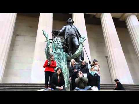 The People's Puppet of Occupy Wall Street takes on Wall St. - Lady Liberty