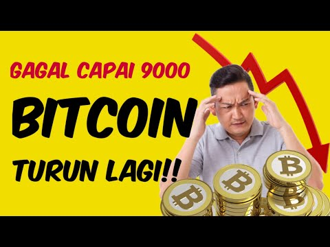 BeritaCrypto046-Gagal Capai 9000 Dolar #Bitcoin Jatuh Lagi!  Main Bitcoin Dapat Motor!!  Mau??