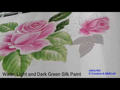 Step 3 Silk Painting Rose Motif Design Painting Rose Leaf Lukis