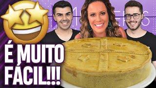 FIZEMOS A TORTA CREMOSA DE FRIOS DA REGINA VOLPATO DO PROGRAMA MULHERES! | Virou Festa