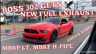 2013 Mustang BOSS 302 New FULL EXHAUST! MBRP Long Tube Headers + H-Pipe, LTH OverAxle Pipes & Corsa