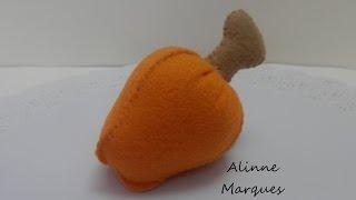 Caju 3D em feltro – Artesanato Passo a passo com Alinne Marques