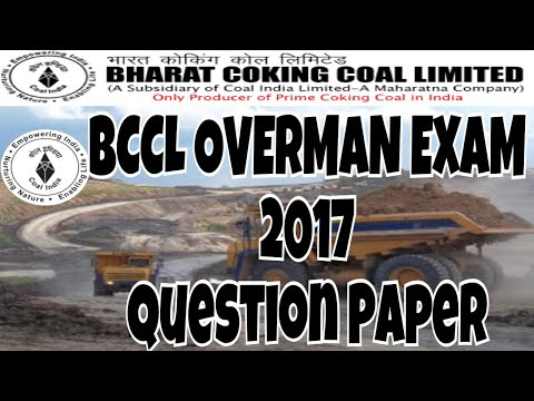 Question 1-10 || BCCL overman exam 2017 || mining technical
