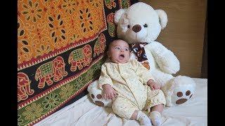 Бонус Раде 3 месяца!! Когда ребенок первый раз начинает сидеть и пытаться ходить. Праздничный обед