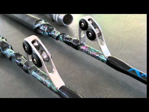 AMAZING BLACK DIAMOND & ABALONE Giant Bluefin Tuna All Roller Stand-up Fishing Rods