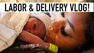RAW LABOR & DELIVERY VLOG| EMOTIONAL EARLY BIRTH