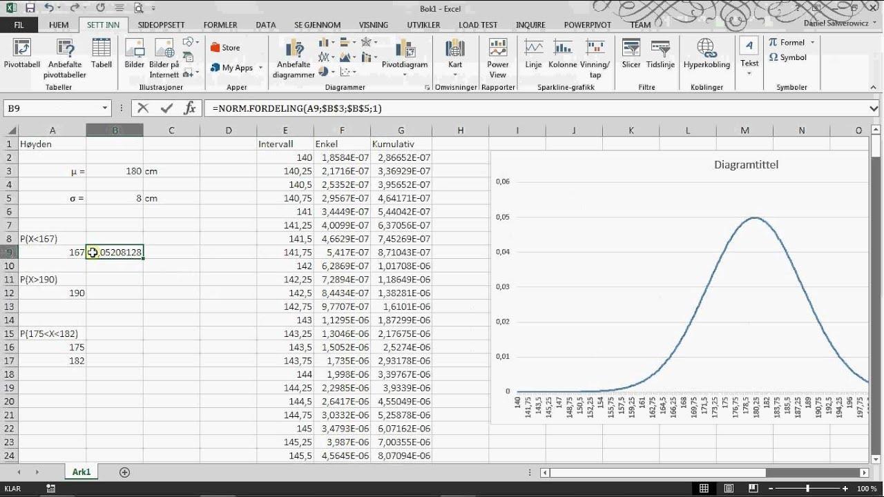 Normalfordeling I Excel