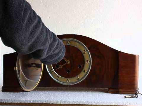 Germany Lauffer 8 Day Mantel Clock video