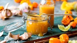 Slik lager du Gul habañero chilisaus med mango