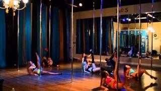 Earned It - The Weeknd Beginner Pole Dance Routine 2-23-15