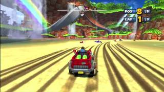 Sonic & Sega Racing with Banjo & Kazooie Demo Gameplay!