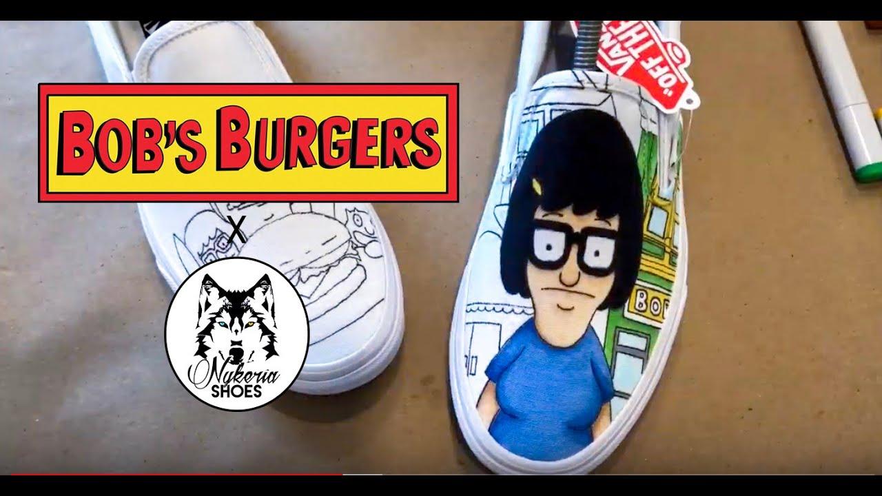 496e61b7eb Bob s Burgers Custom Shoes Timelapse + Tutorial - YouTube