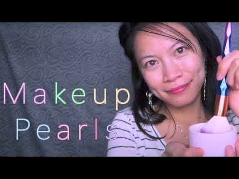 ASMR Relaxingly Brushing You With Makeup Pearls