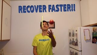 how to recover from a run sage canaday routine after running workout and race recovery