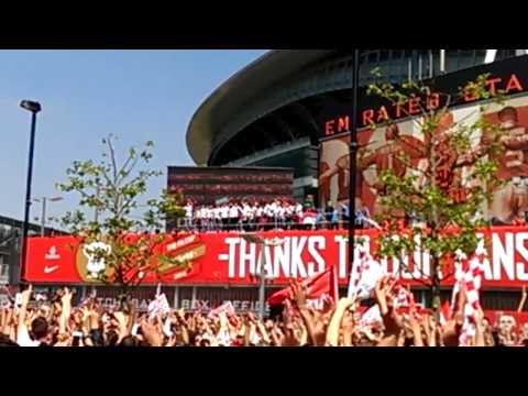 Arsenal FA Cup 2014 presentation at the Emirates