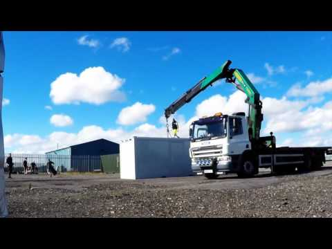 ContainerContainer Flat Pack Shipping Container Office Exterior and Interior Build Process
