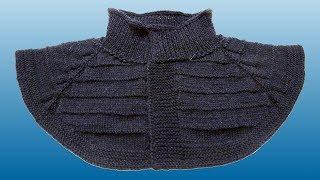 Манишка спицами для мужчин. Манишка регланом. Вязание манишки спицами. Ч. 1 (dickey Raglan. P. 1)
