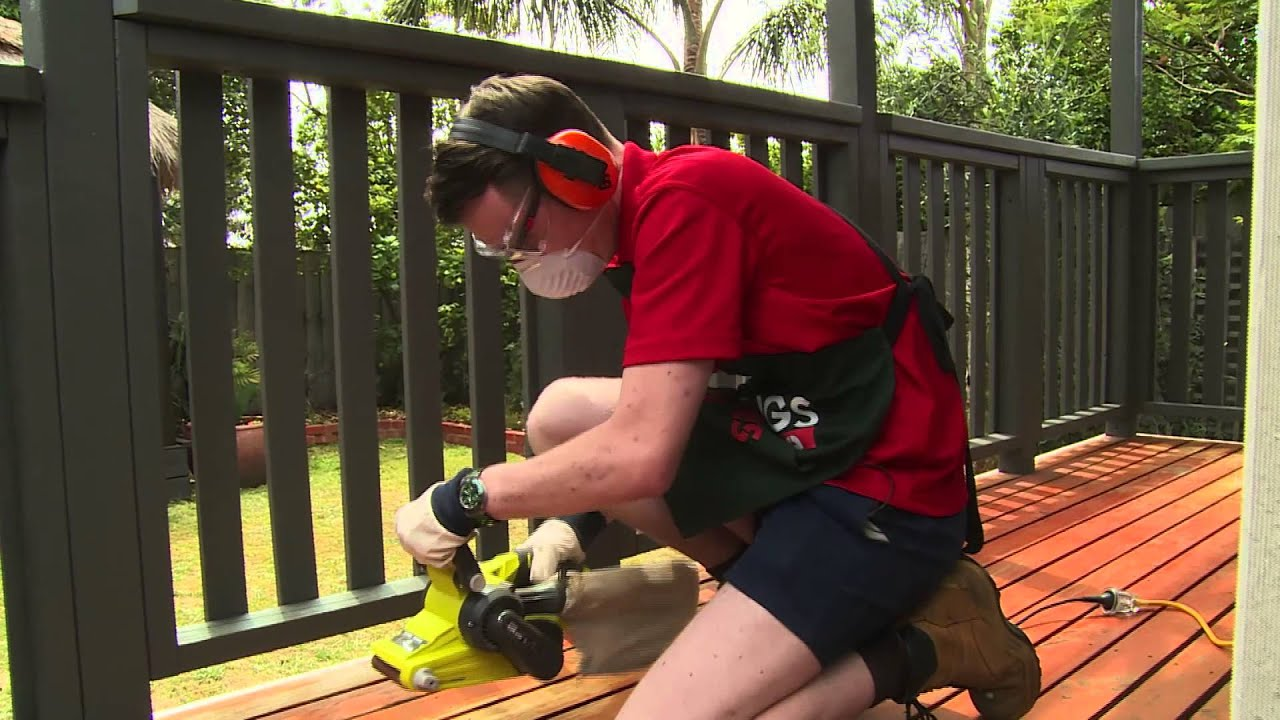 How To Sand A Deck - DIY At Bunnings - YouTube