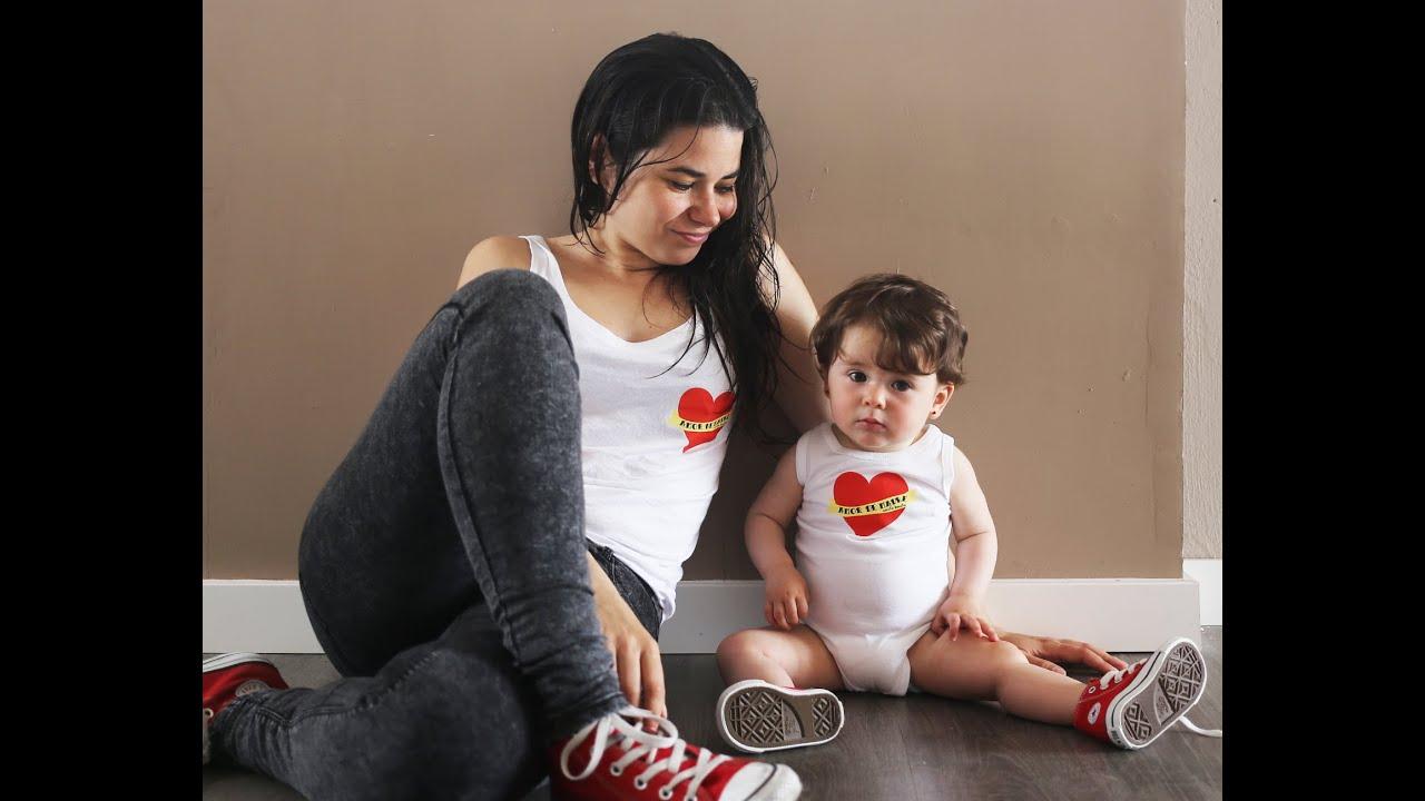 ropa de bebe y mama igual
