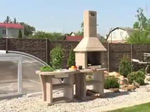 Уличные камины-барбекю из бетона для дома и дачи.