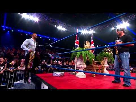 AJ Styles crashes the coronation of Magnus (January 2, 2014)
