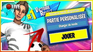 LIVE FORTNITE PP ! PARTIES PERSO ! Code Créateur : LBS