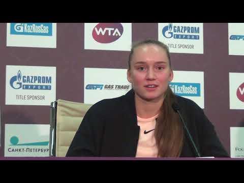 Елена Рыбакина: «Не думала, что в Петербурге смогу дойти до четвертьфинала»