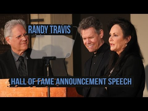 Randy Travis Speaks At Country Music Hall of Fame Induction Press Conference