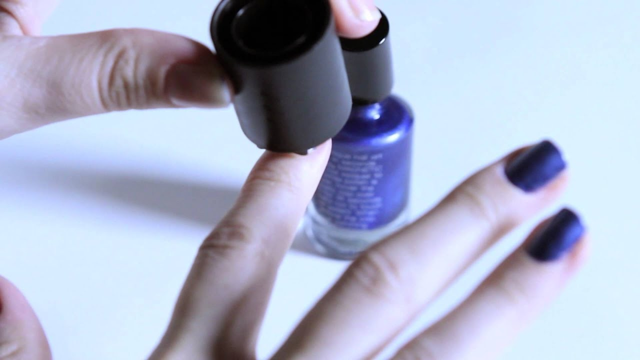 Magnetic Force Nail Polish from ThinkGeek - YouTube