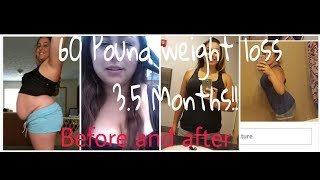 60 pounds lost in 4 months\ Before & after pictures\ Motivation! Weight loss results