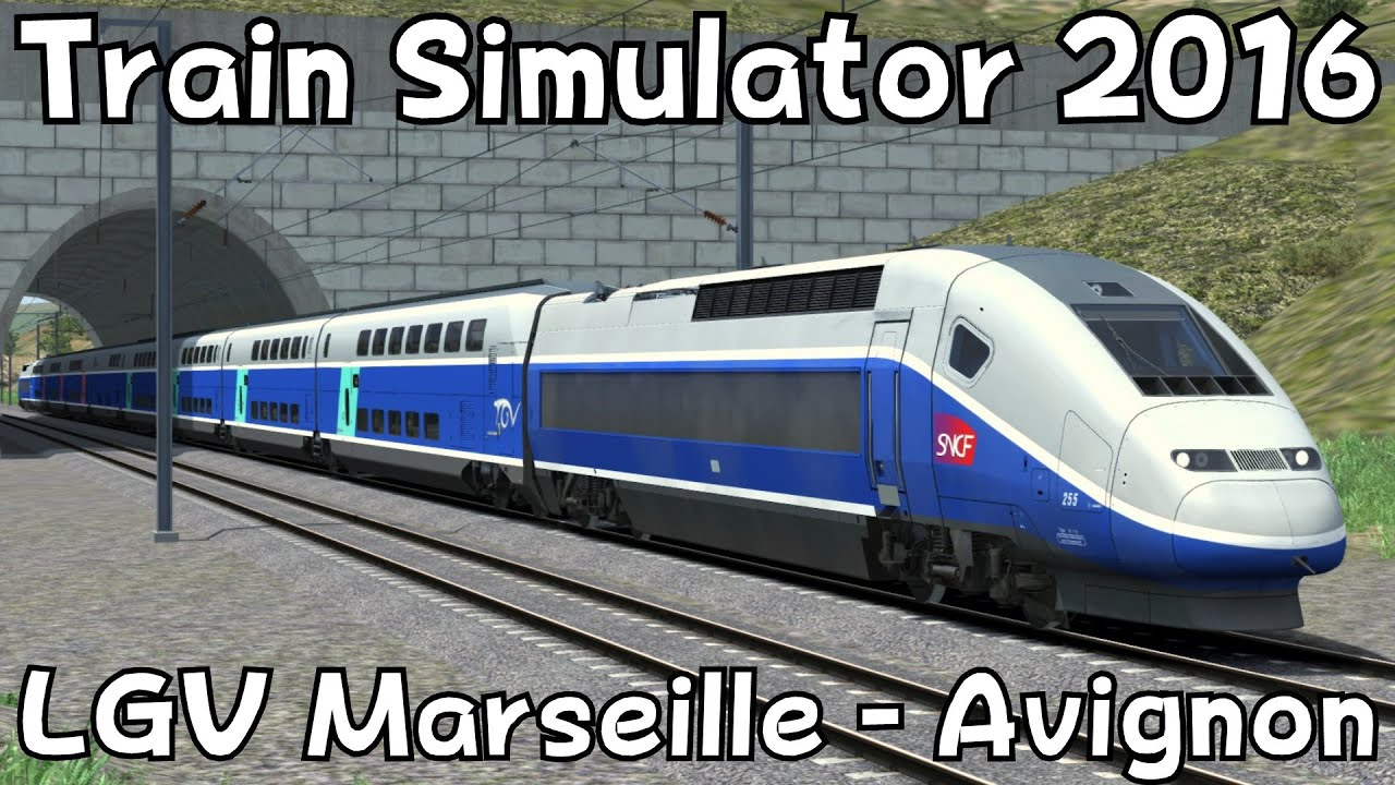 train simulator 2016 lgv marseille avignon with tgv duplex youtube. Black Bedroom Furniture Sets. Home Design Ideas